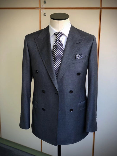 Product Showcase: Double-Breasted 6x2 Houndstooth Wool Jacket