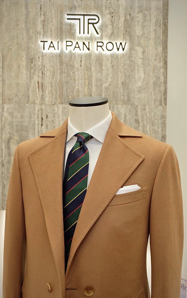 Product Showcase: Camel Double-Breasted Cashmere Coat