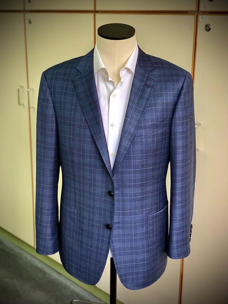 Product Showcase: Dark Blue Wales Check Wool Jacket