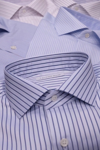 Product Showcase: Light Blue Striped Cotton Shirts