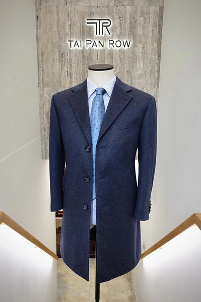 Product Showcase: Navy 3-Button Pure Cashmere Overcoat