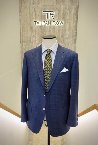 Product Showcase: Navy Plaid Check Wool Jacket