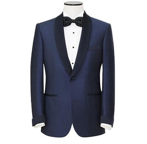 "Midnight Blue ""Super 180's"" Shawl Lapel Tuxedo"