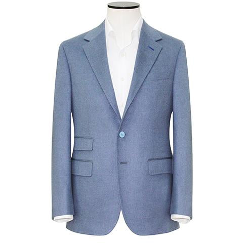 Steel Blue 3/2 roll Pure Cashmere Sport Coat