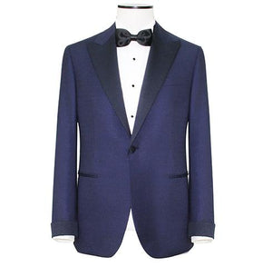 "Navy Blue ""Super 180s"" Peak Lapel Tuxedo"