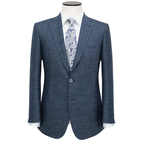 Slim-Fit Patriot Blue Sharkskin Wool-Blend Sport Coat