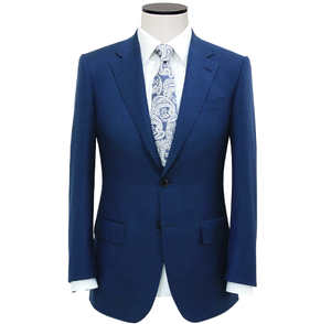Slim-Fit Navy Blue Wool-Blend Hopsack Blazer