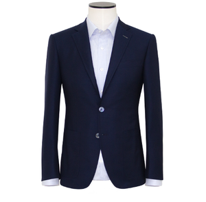 "Slim-Fit Indigo Blue ""Super 150's"" Merino Wool Blazer"