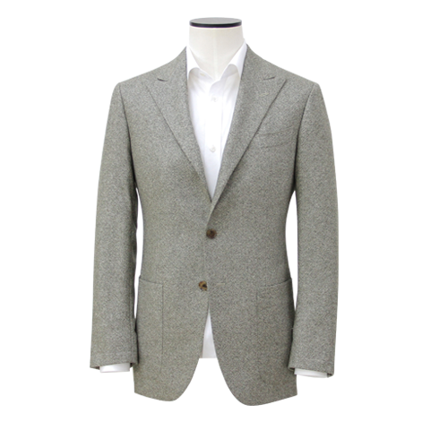 Light Grey 3/2 roll Pure Cashmere Sport Coat