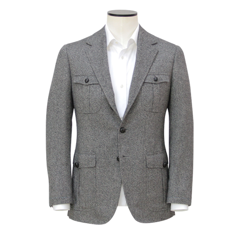 Grey Pure Cashmere Hunting Jacket