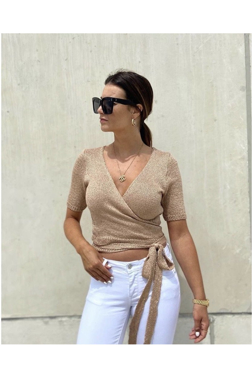 Gold wrap top