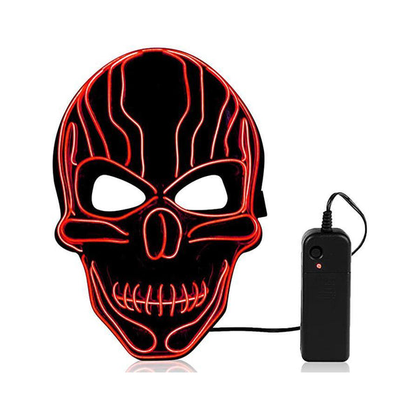 Halloween Horror Luminous Mask LED Grimace Horror Mask - Gadgetli Store