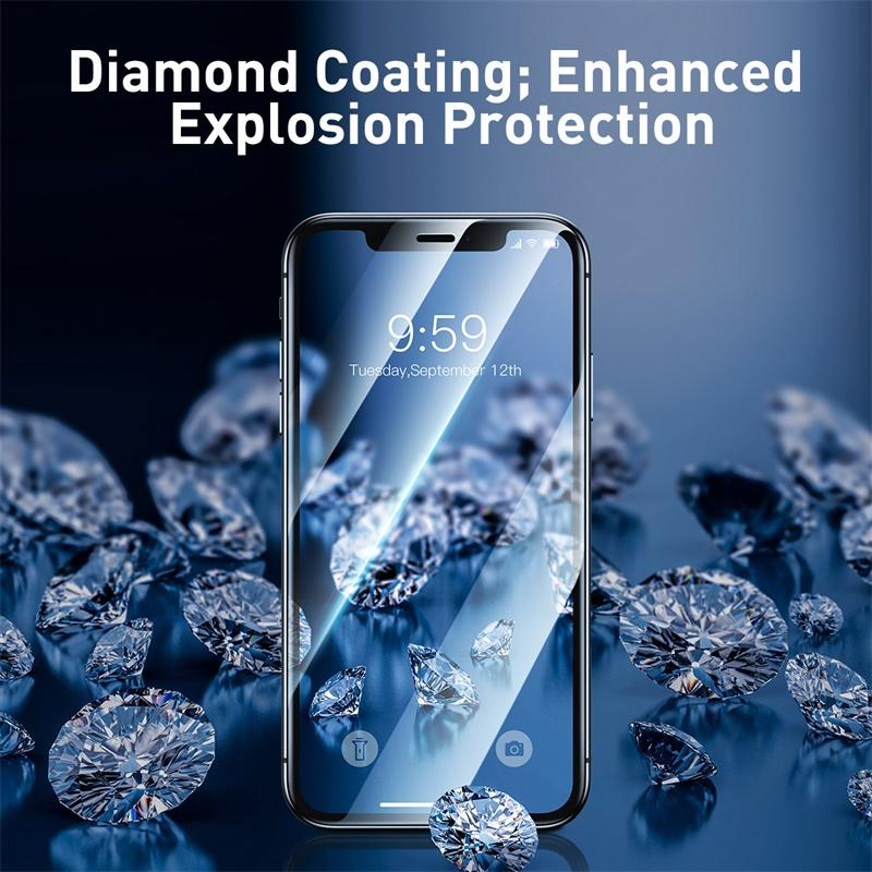 Diamond Coating Full screen curved tempered glass film - Gadgetli Store
