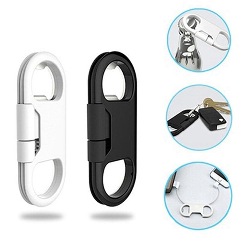 Multifunction Gadget Keychain Phone Cable and Bottle Opener - Gadgetli Store