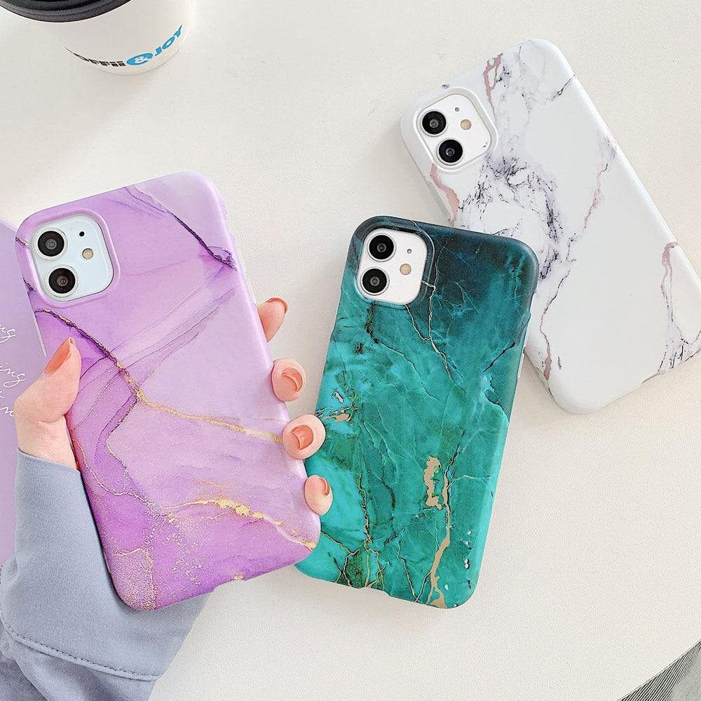Marble Crack Matte Phone Cases For iPhone - Gadgetli Store