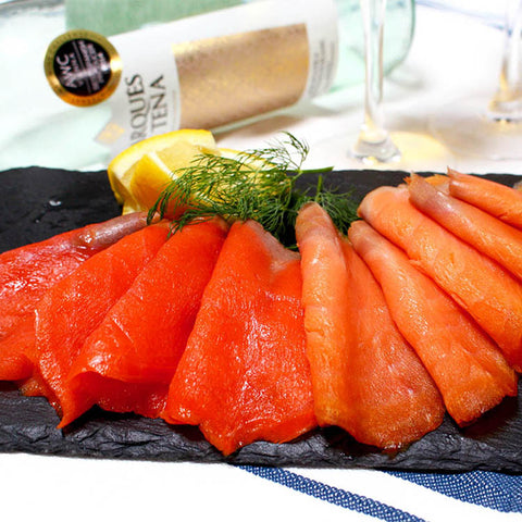 King and Sockeye Smoked Salmon Set