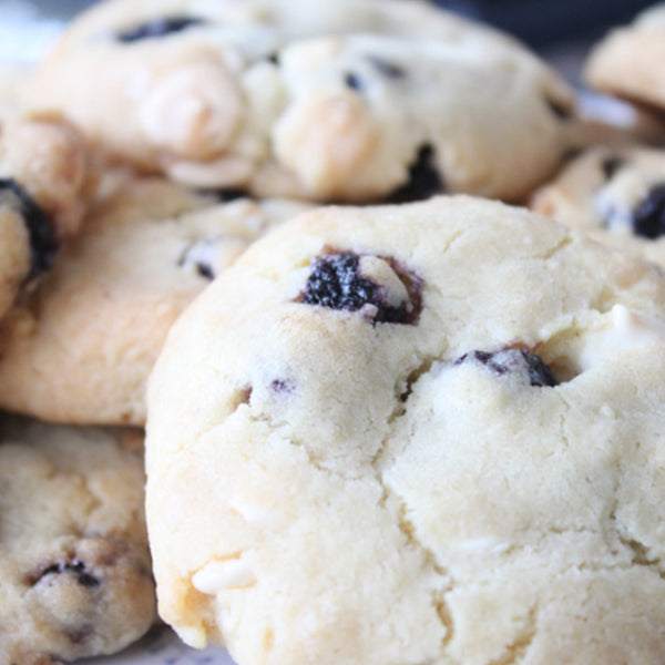 Maple & Blueberry Shortbread Cookies
