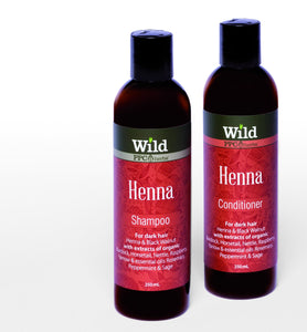Wild – Henna Shampoo and Conditioner for DARK HAIR