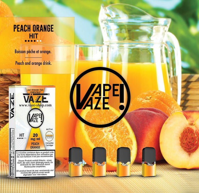 Vaze Peach Orange - Cartouches x4