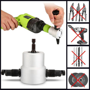 (2nd Only $14.49)Double Head Sheet Nibbler Metal Cutter