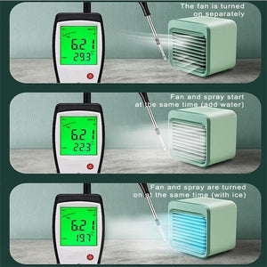 (Hot Products! ! !)Rechargeable Water-cooled Air Conditioner (Can be used outdoors)