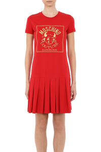 CNY OX BOX PLEAT TEE DRESS