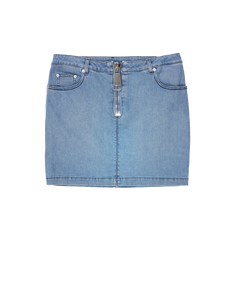DENIM SKIRT WITH MACRO ZIPPER