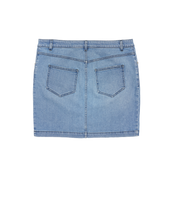 Load image into Gallery viewer, DENIM SKIRT WITH MACRO ZIPPER