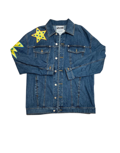 (43) EMBROIDERY & STRASS LOGO DENIM JACKET