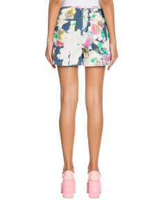 BLEACHED FLOWERS SHORTS