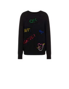 MULTICOLOR SEQUINS WOOL SWEATER