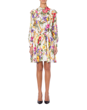Load image into Gallery viewer, GEORGETTE DRESS FLOWERS AND CHAINS