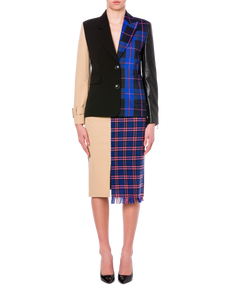CADY AND CHECK JACKET PATCHWORK