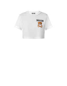 INSIDE OUT TEDDY BEAR CROPPED TEE