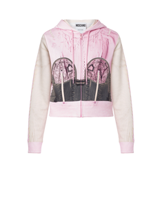 INSIDE OUT OPTICAL ILLUSION  ZIP UP JACKET