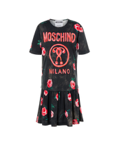 Load image into Gallery viewer, ROSES DOUBLE QUESTION MARK PLEATED TEE DRESS