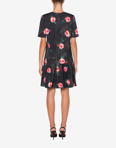 ROSES DOUBLE QUESTION MARK PLEATED TEE DRESS