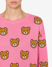 Load image into Gallery viewer, KNITTED DRESS ALLOVER TEDDY BEAR
