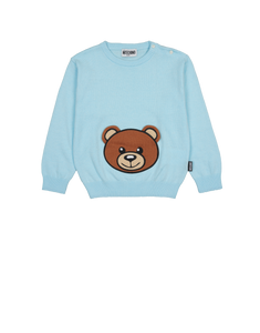 BABY TEDDY LOGO SWEATSHIRT Blue