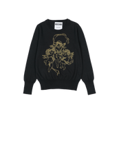 Load image into Gallery viewer, EMBROIDERED CHERUB WOOL TOP