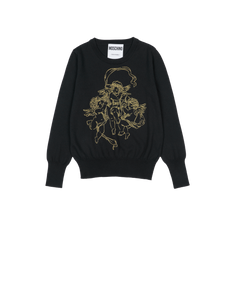 EMBROIDERED CHERUB WOOL TOP