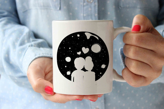 Couple Earth Coffee Mug