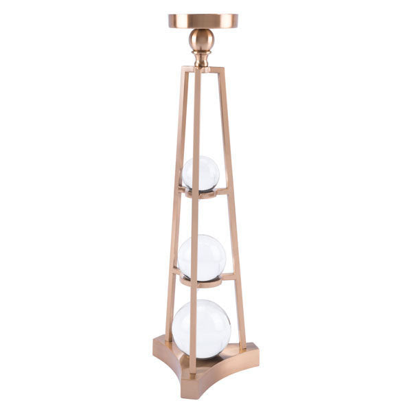 Tall Candle Holder With Orbs