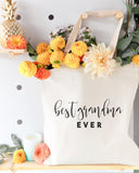 Best Grandma Ever Cotton Canvas Tote Bag