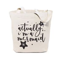 Actually, I'm a Mermaid Cotton Canvas Tote Bag