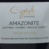 Amazonite Crystal Infused Scented Bath Salts