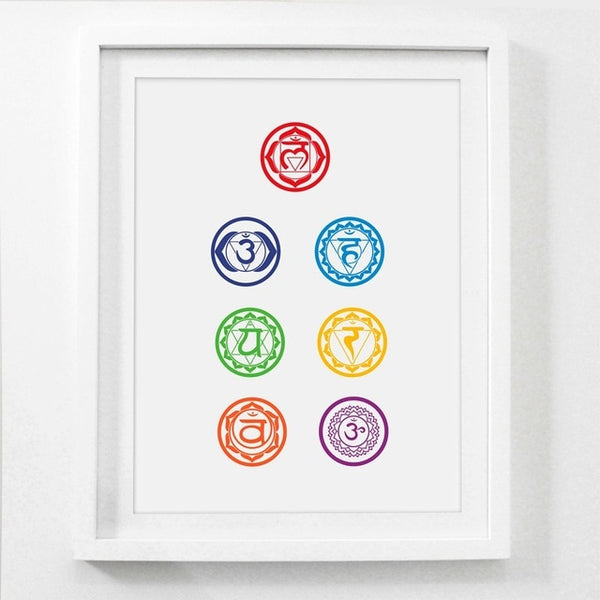Chakras Canvas Art Print Painting Poster , Health