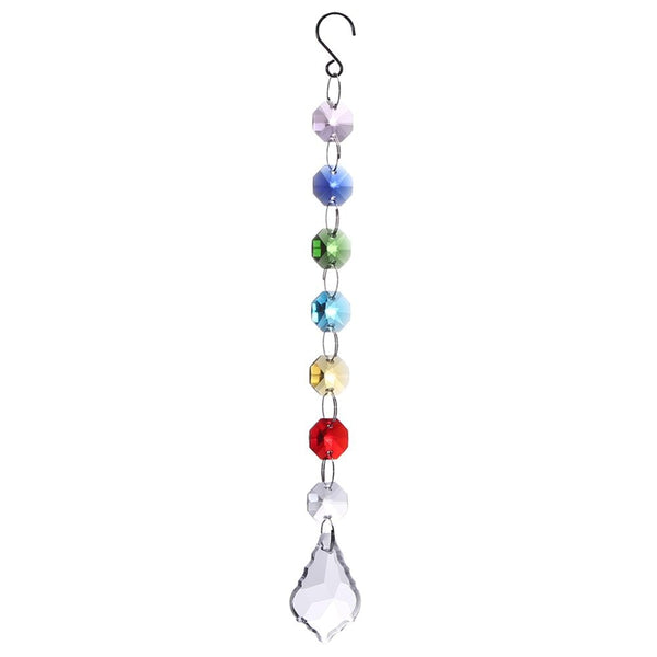 Colorful Chakra Crystal Sun Catchers Chandelier