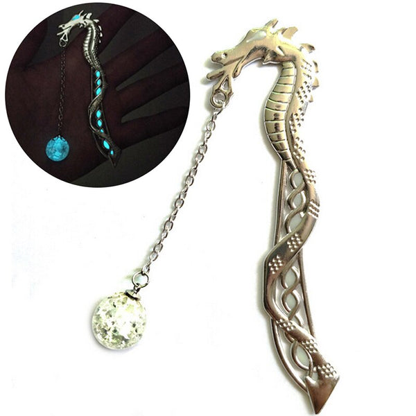 Dragon Shape Bookmark Luminous Glow In The Dark