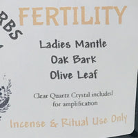 Fertility Ritual, Bath, and Incense Herbs